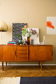 Retro sideboard in living room