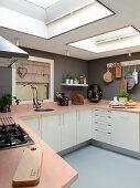 Modern, Scandinavian-style, country-house kitchen