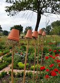 Clay Pots With Hay As Ohrwurmhäuschen