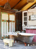 Rustic bathroom in a converted barn