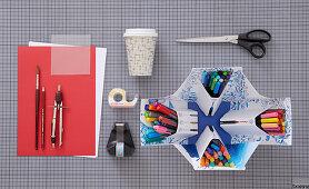 Craft utensils for making hand-decorated beakers