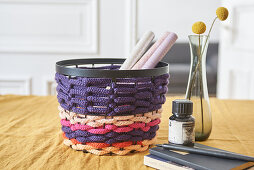 Knitting dolly basket