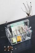 Acrylic Desk organizer with desk accessories