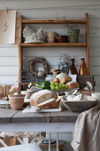 Table set in rustic country-house style