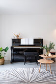 Piano and coffee table