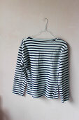Old striped shirt ready for creative upcycling