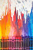 Original artwork made from melted wax crayons