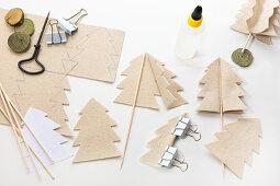 Making felt Christmas trees