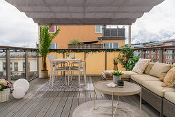 Outdoor lounge on roof terrace