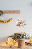 Apple pie with star decoration