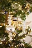 Christmas decorations on tree