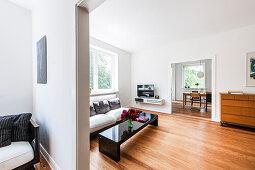 View inside a living room, Hamburg, Germany