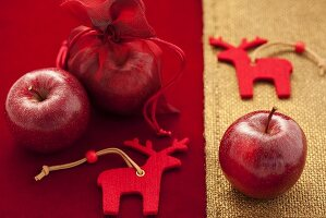 Red apples for Christmas decoration