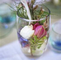 Tulips in a glass