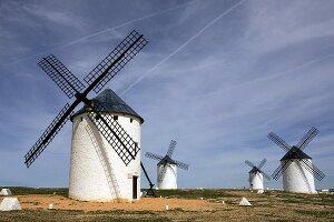 Windmühlen in Campo de Criptana (La Mancha, Spanien)