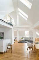 An attic room with a gallery in an old town house