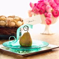 Easter Table with Pear Place Card Holder