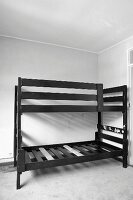 DIY instructions - how to turn an old, black bunk bed into a fun child's 'sleep house'