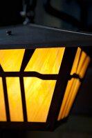 An Outdoor Lantern; Lit
