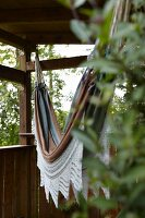Hammock in summer house