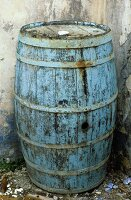 An old barrel of wine in Stromboli (Italy)
