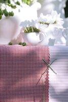 Tischtücher für ein Gartenfest