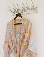 Coat rack with hooks made from antlers