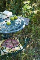 Vintage Gartentisch und Stühle aus rostigem Metall