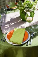 Place Setting on an Outdoor Table