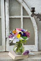 Romantic bouquet in a glass vase