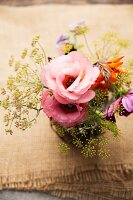 Posy with dill flowers
