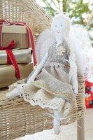 Hand-sewn angel rag doll