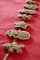 Festive gingerbread garland