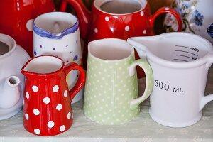 Various retro china jugs
