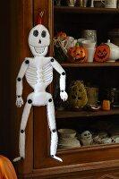 Hand-sewn fabric Halloween skeleton decoration