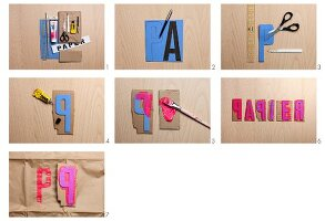 Making alphabet stamps