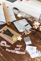 Hand-crafted gift bags for Christmas biscuits