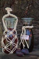 Jute macrame bottle cover