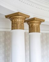 Detail of gilt column capitals