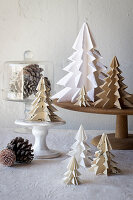Origami Christmas trees