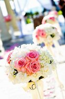 Flowers at wedding venue