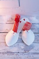 Handmade paper are slippers for St Nicholas Day