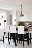 Modern elements in country-house kitchen