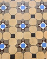 Vintage-style patterned tiles