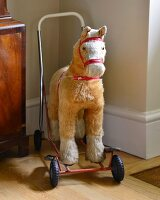Vintage push-along ride-on horse