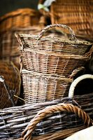 Wicker harvest baskets