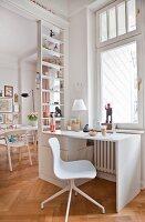 Open-plan interior of period apartment