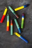 Selbst gefärbte Wachskerzen