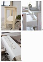 Instructions for painting and decorating a DIY console table using a template