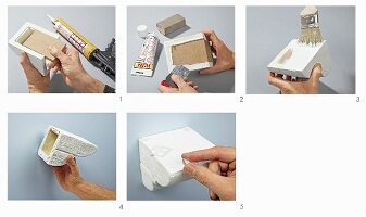 Instructions for making wall bracket from polyurethane and MDF